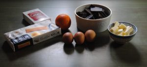ingredienti mousse cioccolato e arancia