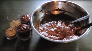 mousse in bicchiere