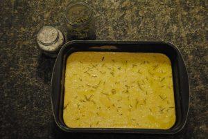 farinata a metà cottura
