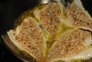 filetti di pesce alle mandorle